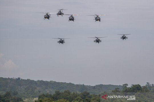 Gladi bersih Latihan Antar Kecabangan TNI AD