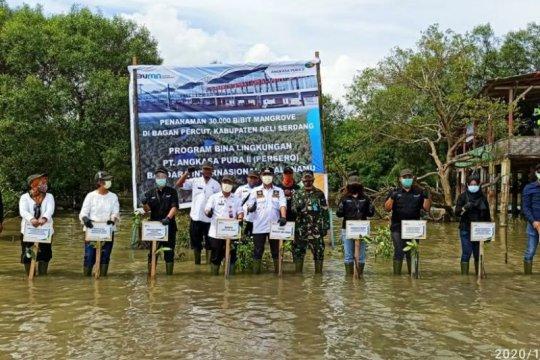 Puluhan ribu mangrove ditanam PT Angkasa Pura II di Deli Serdang