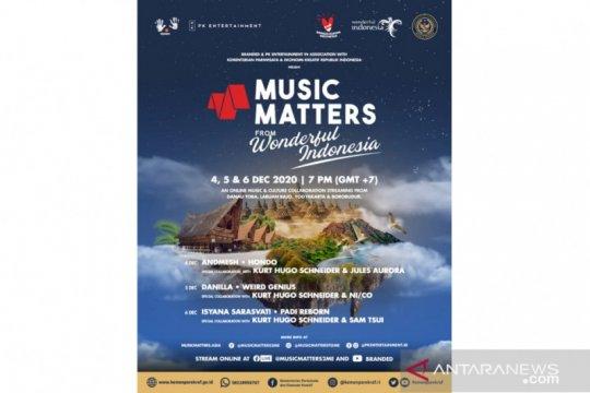 """Tiga lokasi wisata prioritas dapat suguhan konser """"Music Matters"""""""