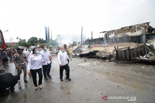 24 ruko terbakar di pasar kawasan Terminal Ngabang