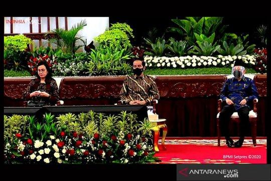 Presiden Jokowi serahkan DIPA, dana transfer daerah dan dana desa 2021