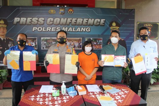 Polres Malang tangkap pelaku penggelapan uang nasabah