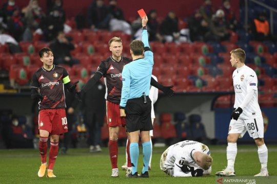 Feyenoord amankan satu poin dari CSKA walau tampil dengan 10 pemain