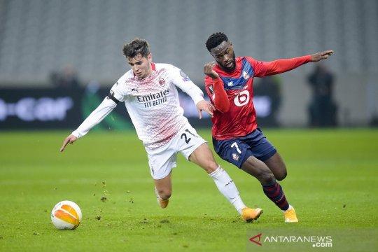 Milan gagal revans, hanya main imbang lawan Lille