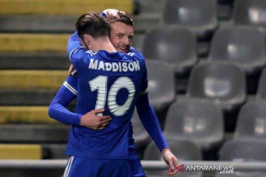 Gol larut Jamie Vardy antar Leicester ke 32 besar Liga Europa
