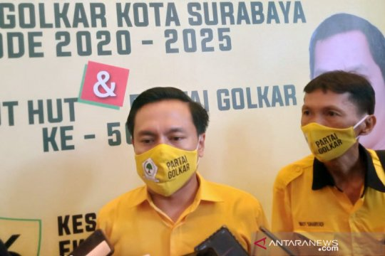 Golkar minta Plt Wali Kota Surabaya mematuhi kebijakan penerapan PSBB