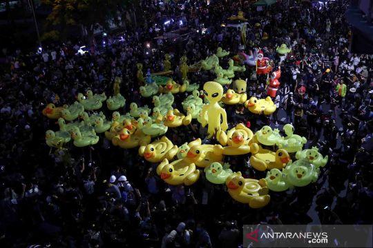 Unjuk rasa menuntut PM Thailand mundur dari jabatannya