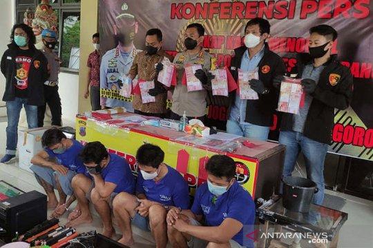 Polrestabes Semarang ringkus empat pembuat dan pengedar uang palsu