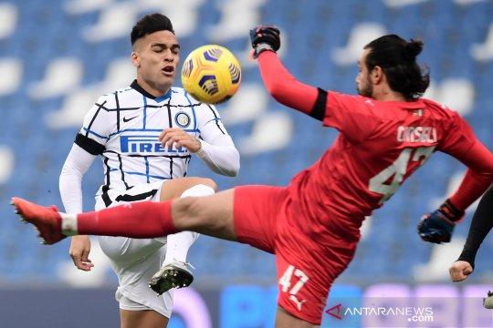 Liga Italia : Inter Milan bayangi AC Milan di klasemen usai kalahkan Sassuolo