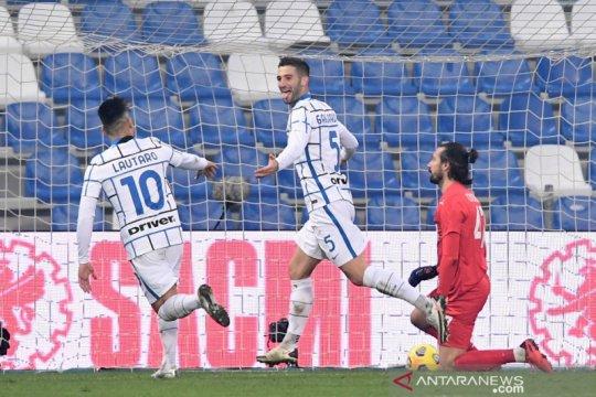 Inter tundukkan Sassuolo sekaligus depak sang lawan dari posisi kedua