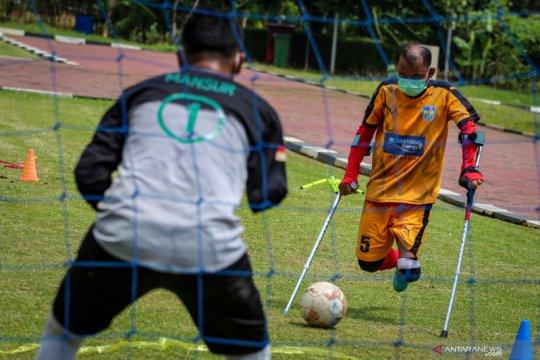 Latihan perdana tim Macan Amputasian Jakarta