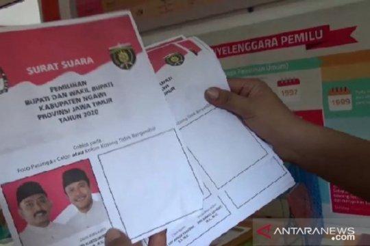 KPU Ngawi temukan 112 surat suara pilkada rusak