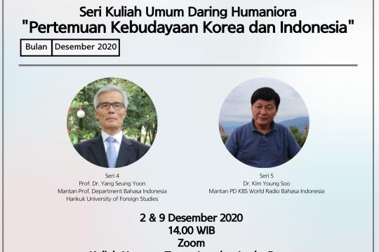 Belajar persamaan Indonesia-Korea di kuliah umum daring Humaniora