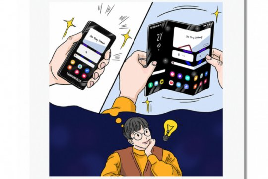 Samsung ungkap konsep ponsel layar lipat tiga dan ponsel gulung