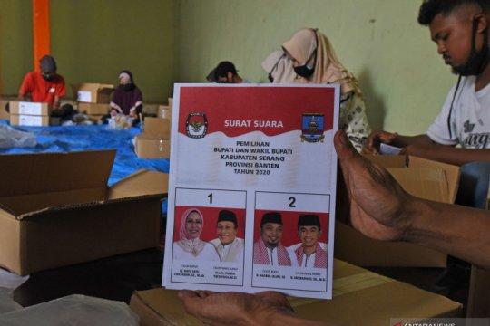 Pelipatan surat suara Pilkada Kabupaten Serang