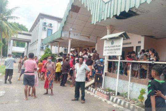 Ratusan warga terdampak erupsi Gunung  Ili Lewotolok dievakuasi