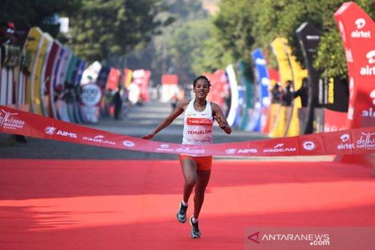 Yehualaw pecahkan rekor lari half marathon tercepat kedua di dunia