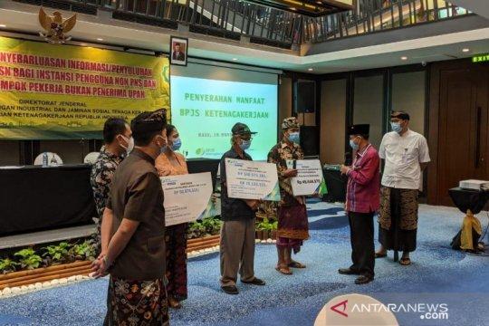 BPJAMSOSTEK Denpasar serahkan klaim jaminan tiga ahli waris peserta