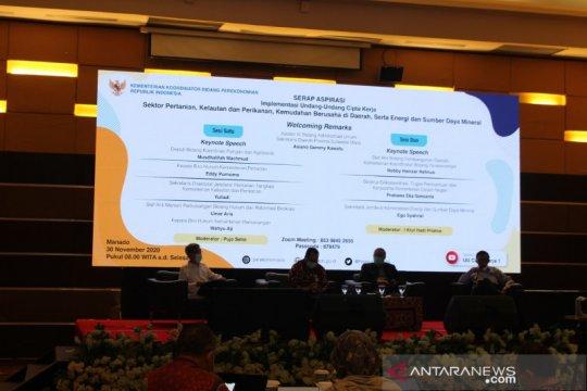 Kemenko Perekonomian: Aliran investasi Sulut Rp11,56 triliun