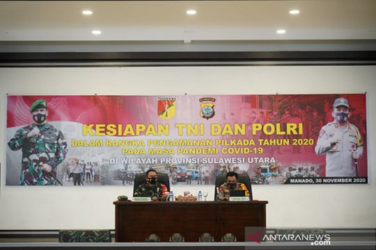 Pangdam Merdeka-Kepala Polda Sulawesi Utara beri arahan satuan bawah