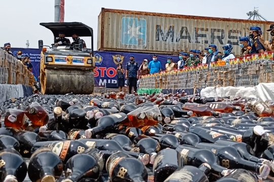 DJBC Banten memusnahkan barang hasil penindakan senilai Rp13,8 miliar