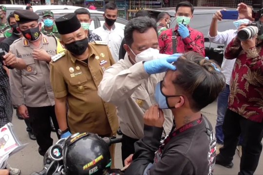 Puluhan warga Batam terjaring penegakan disiplin prokes