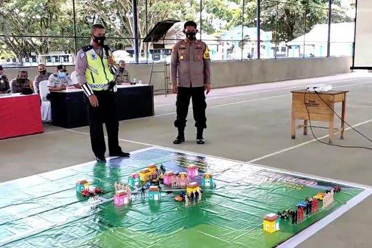 Polres Kolaka gelar latihan pengamanan kota jelang pilkada di Kolaka Timur