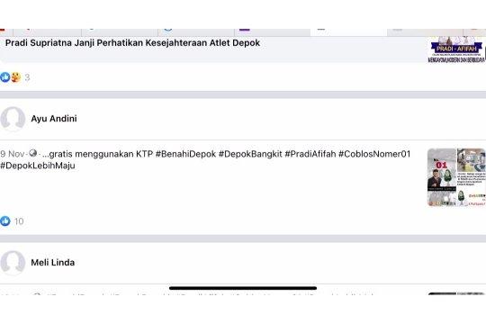 Bawaslu periksa 380 konten internet, 182 diturunkan