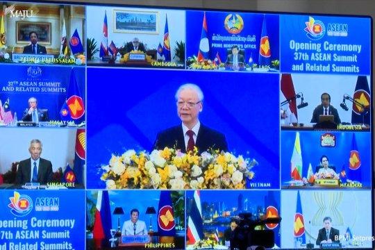 Presiden Jokowi hadiri KTT ASEAN Ke-37 secara virtual