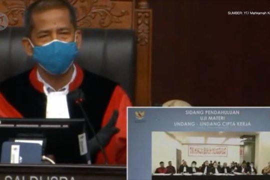 Sidang perdana, MK minta pemohon uraikan kerugian konstitusional UU Ciptaker