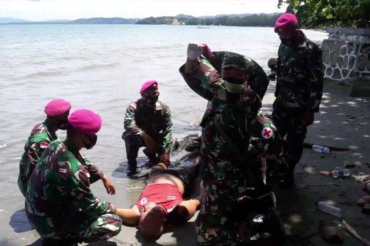 TNI AL simulasi operasi tanggap bencana di Papua