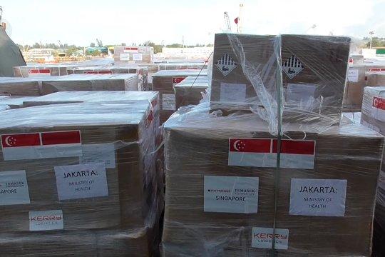 Indonesia kembali terima bantuan COVID-19 dari Singapura