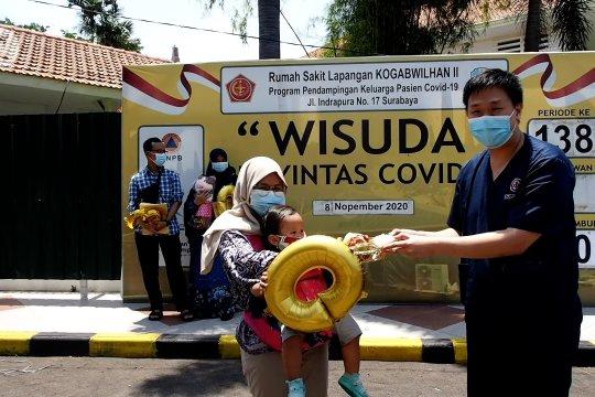 Cerita ibu dan bayinya pasien sembuh ke-3.003 di RS Darurat Surabaya