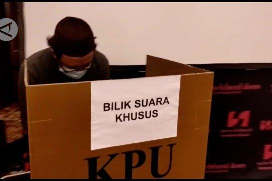 KPU Kalteng gelar simulasi pemungutan suara sesuai protokol kesehatan