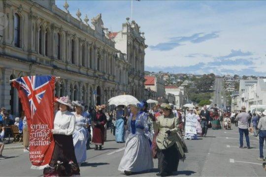 Menyaksikan Selandia Baru tempo dulu di jalanan Oamaru