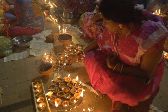 Umat Hindu Bangladesh rayakan festival puasa Rakher Upobash