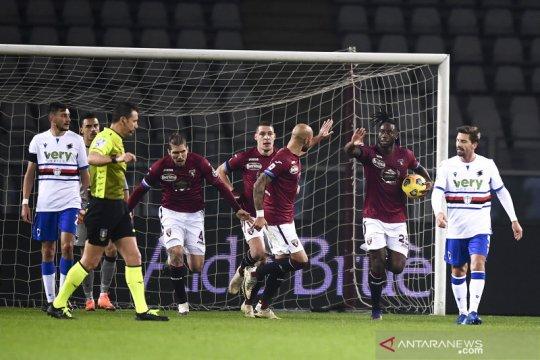 Torino kembali gagal pertahankan keunggulan saat diimbangi Sampdoria