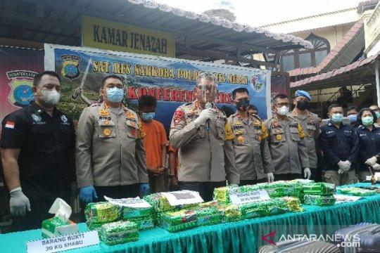 Polisi ungkap jaringan baru narkotika Malaysia-Aceh-Medan-Palembang