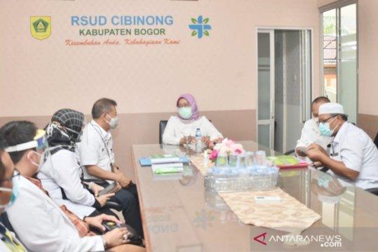 Selesai cuti COVID-19, Bupati Bogor langsung datangi RSUD