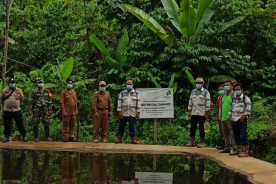 Adaro Metcoal Companies bangun bendungan sarana air bersih lima desa