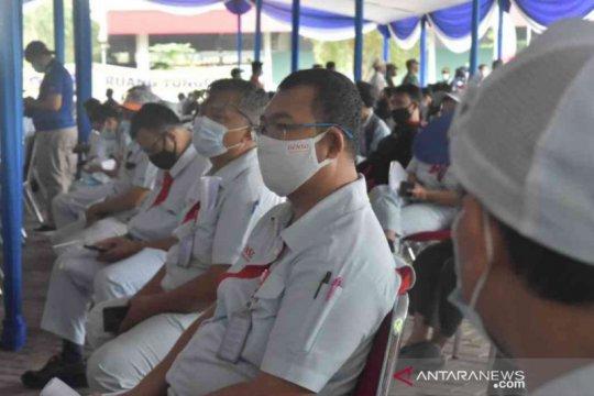 Di Kabupaten Bekasi, 2.000 buruh jalani tes usap massal