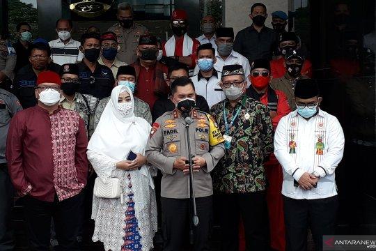 Ormas Betawi sampaikan aspirasi ke Polda Metro Jaya