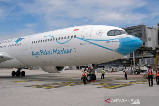 """Garuda """"bermasker"""" mendarat pertama kali di KLIA"""