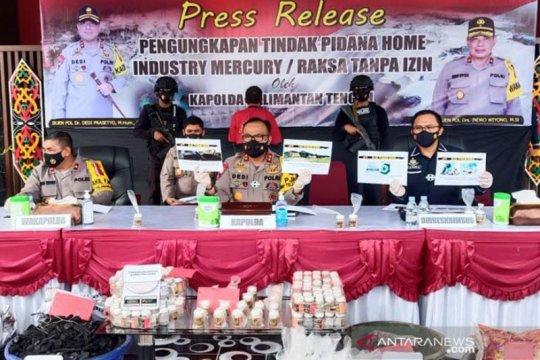 Polda Kalteng  bongkar 'home industry' pembuatan merkuri ilegal