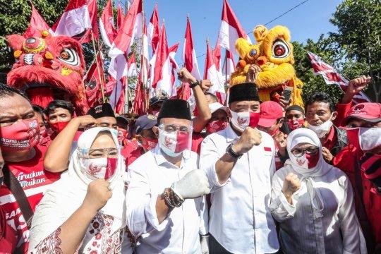 Charta Politika: Eri-Armuji unggul 10,5 persen di Pilkada Surabaya