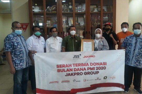 Jakpro dukung Bulan Dana PMI dengan sumbang dana Rp76,9 juta