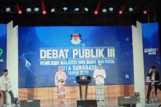 Dua peserta Pilkada Surabaya sikapi radikalisme di debat terakhir