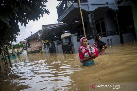 Banjir di Lebak akibat sungai meluap