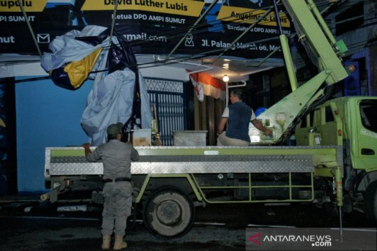 Pemkot bersama Bawaslu tertibkan seluruh APK di Kota Medan