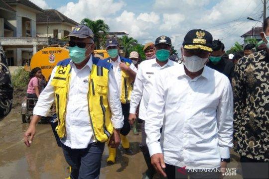 Menteri PUPR tinjau lokasi banjir di Deli Serdang